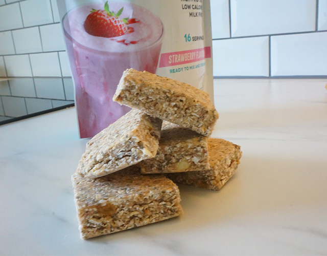 Recept Proteinbar med SkinnyShake Jordgubb
