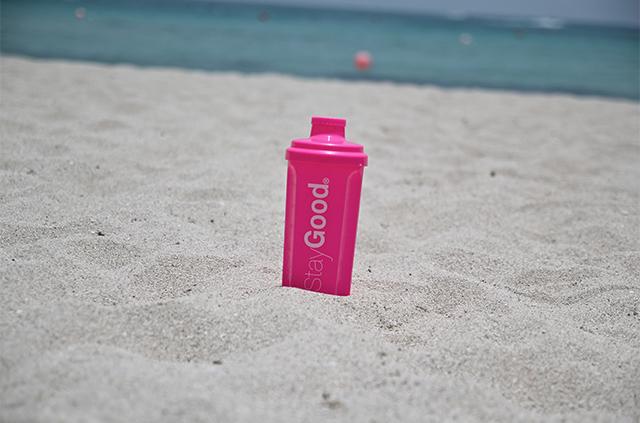 snygg rosa vattenflaska